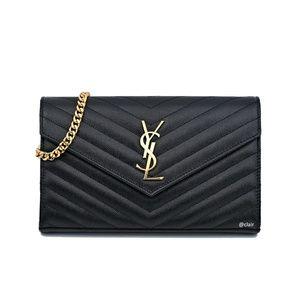 Saint Laurent Medium Monogram Envelope Leather WOC